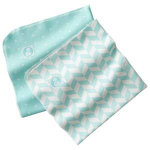 Barnkammaren Unisex First toys and baby toys Green Barnkammaren Cotton Blanket 2-Pack Mint