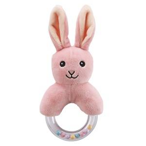 Kids Concept Unisex First toys and baby toys Pink Rabbit Character Teething Rattle