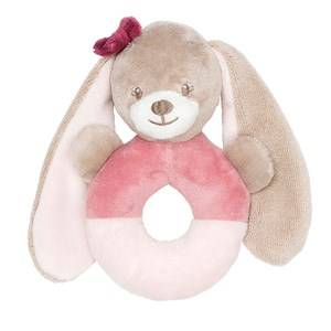 Nattou Unisex Norway Assort First toys and baby toys Pink Ring Rattle Nina The Bunny