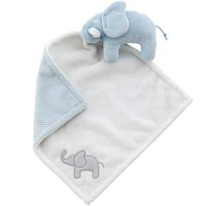 Elephant Boys First toys and baby toys Blue Cuddle Blanket Elephant Light Blue