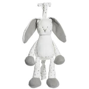 Teddykompaniet Unisex First toys and baby toys Grey Diinglisar Organic, Stars, Speldosa, grå