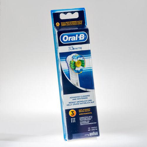 EAN Code 4210201849339 Oral-B 3D White 3 piece - Mikali maksat tilauksesi kateisennakolla, niin saat ylimaaraisen 5% alennuksen! Ei ole merkityst?, kuinka paljon tilaat tai kuinka painava pakettisi on, koska toimitus on aina maksimissaan 3,95 euroa. Yli 50 euron tilauksiin saat aina ilmaisen toimituksen! 25034