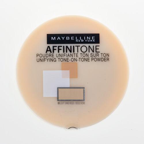 EAN Code 3600530558971 Maybelline Affinitone 03 Light Sand Beige 9g - Mikali maksat tilauksesi kateisennakolla, niin saat ylimaaraisen 5% alennuksen! Ei ole merkityst?, kuinka paljon tilaat tai kuinka painava pakettisi on, koska toimitus on aina maksimissaan 3,95 euroa. Yli 50 euron tilauksiin saat aina ilmaisen toimituksen! 25287