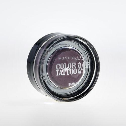EAN Code 3600531082703 Maybelline Eye Studio Color Tattoo 24 HR 97 Vintage Plum 4ml - Mikali maksat tilauksesi kateisennakolla, niin saat ylimaaraisen 5% alennuksen! Ei ole merkityst?, kuinka paljon tilaat tai kuinka painava pakettisi on, koska toimitus on aina maksimissaan 3,95 euroa. Yli 50 euron tilauksiin saat aina ilmaisen toimituksen! 25383