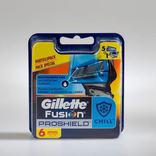 7 Gillette Fusion ProShield Chill Klingen  6 pc