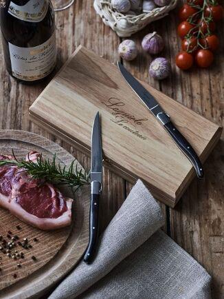 Laguiole Le Couteau 6 Laguiole Le Couteau Ebony Wood