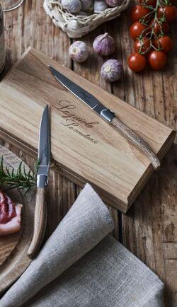 Laguiole Le Couteau 4 x Laguiole Le couteau Tammi puu