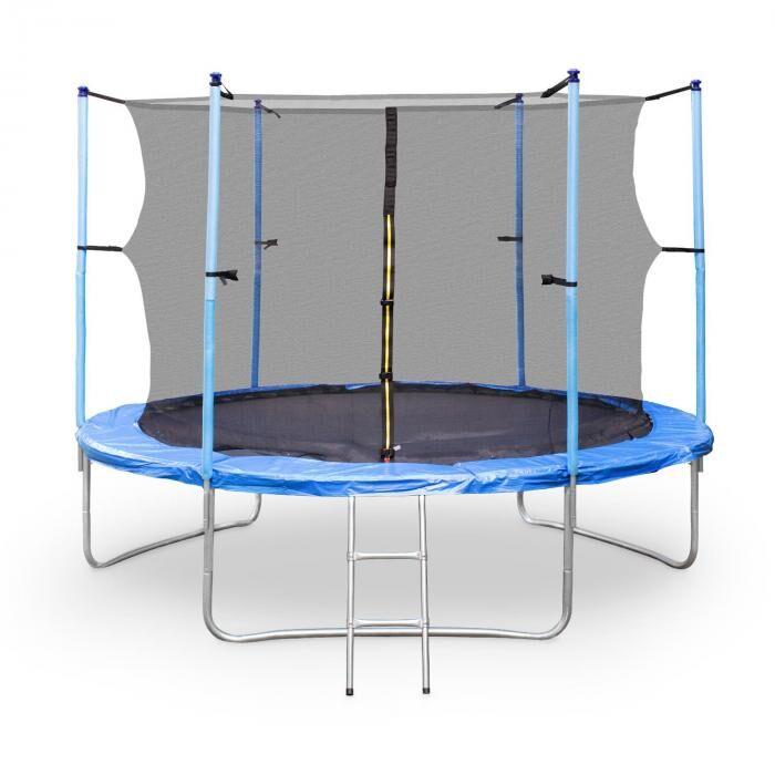 Image of KLARFIT Rocketboy XXL -trampoliini 305cm turvaverkko sininen