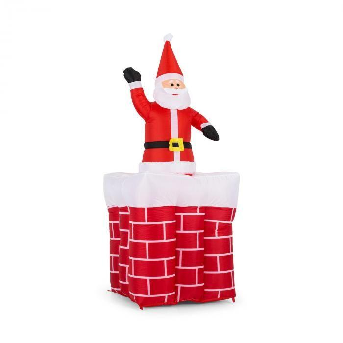 OneConcept Merry Surprise puhallettava joulukoriste 180 cm puhallin LED