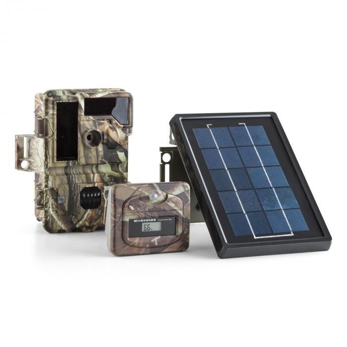 DURAMAXX Solar Grizzly luontokamera setti musta LED HD 8 MP aurinkopaneeli