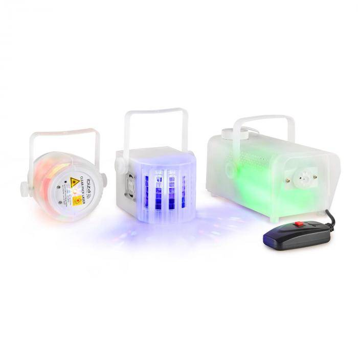 Ibiza CLEAR-PACK valoefektisetti Firefly-Laser Derby-efekti 400W