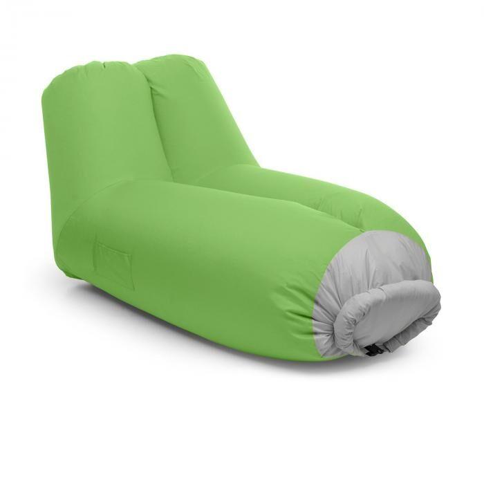 Blumfeldt Airlounge puhallettava sohva 90x80x150cm reppu pestävä polyesteri vihreä