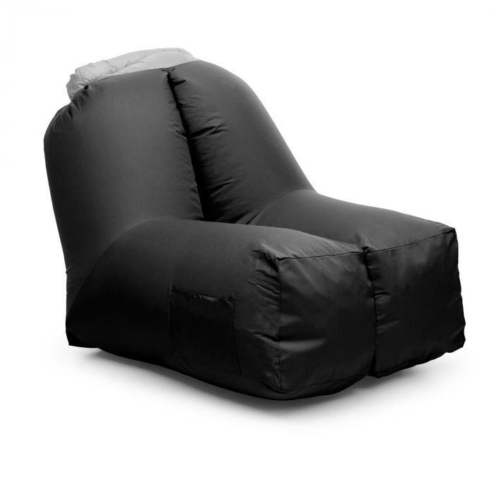 Blumfeldt Airchair puhallettava tuoli 80x80x100cm reppu pestävä polyesteri musta