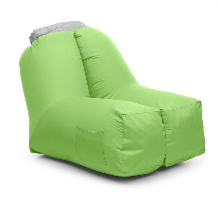 Blumfeldt Airchair puhallettava tuoli 80x80x100cm reppu pestävä polyesteri vihreä