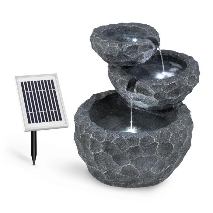 Blumfeldt Murach vesiputous akkukäyttö 2 kW aurinkopaneeli 3 LED-valoa