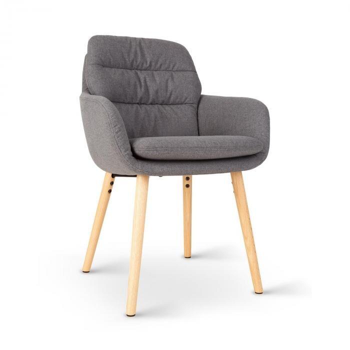 Besoa Doug -tuoli vaahtomuovipehmuste polyesteri puujalat tummanharmaa