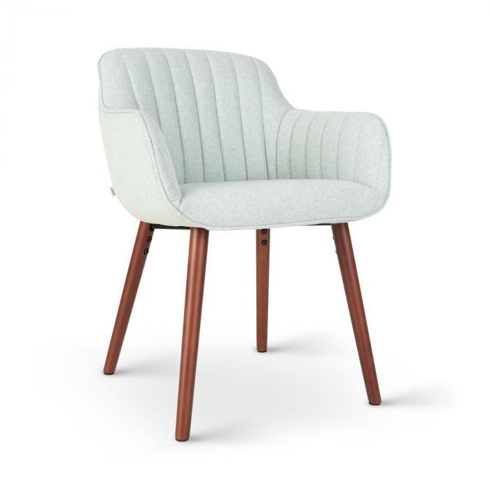 Besoa Iris -tuoli vaahtomuovipehmuste polyesteripäällinen puujalat vaaleanvihreä