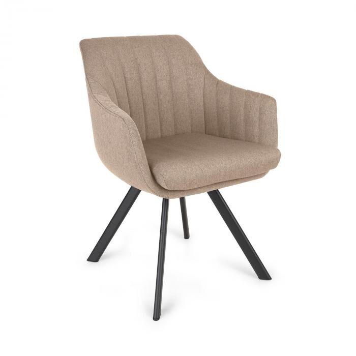 Besoa Roger -tuoli vaahtomuovipehmuste 100 % polyesteriä teräsjalat beige