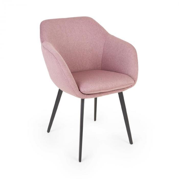 Besoa James -tuoli vaahtomuovipehmuste 100 % polyesteriä teräsjalat pinkki