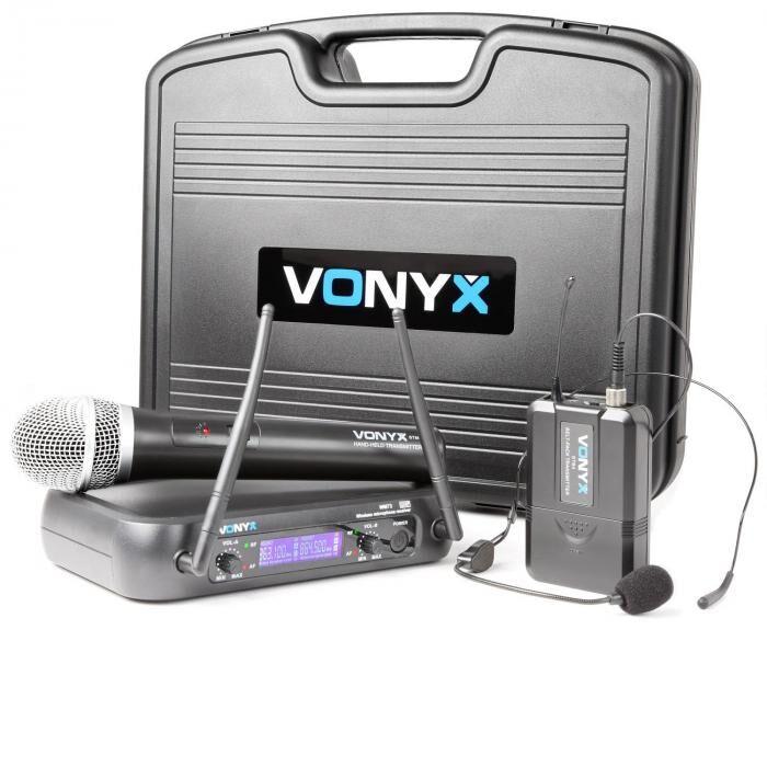 Vonyx WM73C langaton 2-kanava UHF-radiojärjestelmä