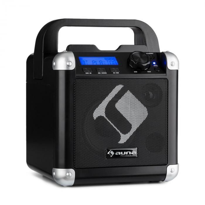 Auna BC-1 karaokejärjestelmä Bluetooth akku kantokahva USB AUX-In musta