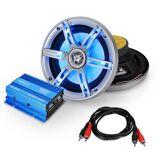 "Auna Car HiFi-setti ""Potsdam"" 2.0 system 600W mini-amp &L LED box"