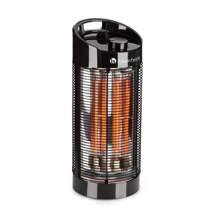 Blumfeldt Heat Guru 360 pystylämmitin 1200/600W 2 lämmitystehoa IPX4 musta