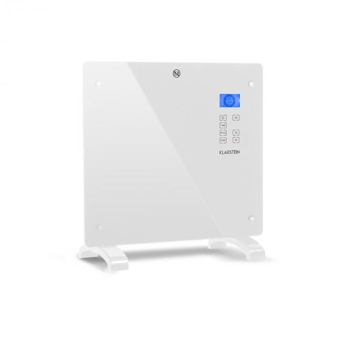 Klarstein Norderney konvektorilämmitin termostaatti ajastin 1000 W 20 m² valkoinen