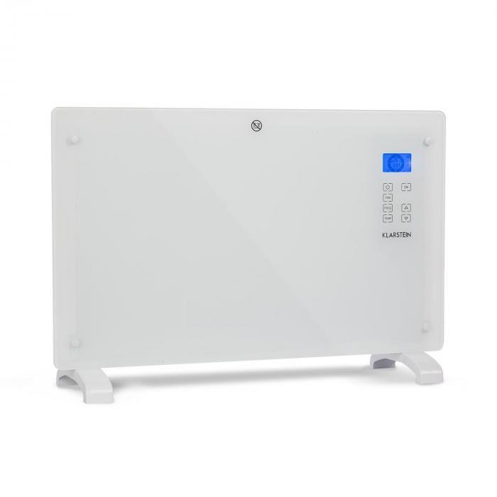 Klarstein Norderney konvektorilämmitin termostaatti ajastin 2000 W 30 m² valkoinen