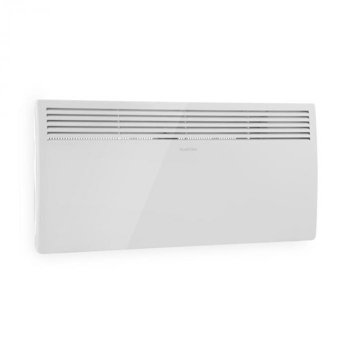 Klarstein Hot Spot Slimcurve lämmitin 80 x 40 cm 40 m² 2000 W 5-40 °C LED IP24 valkoinen