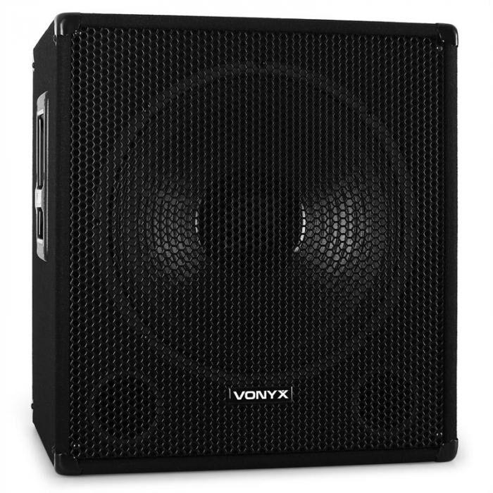 """Skytec VONYX / Skytec 46cm (18"""") aktiivi disco kaiutin 1000W kaiuttimet"""