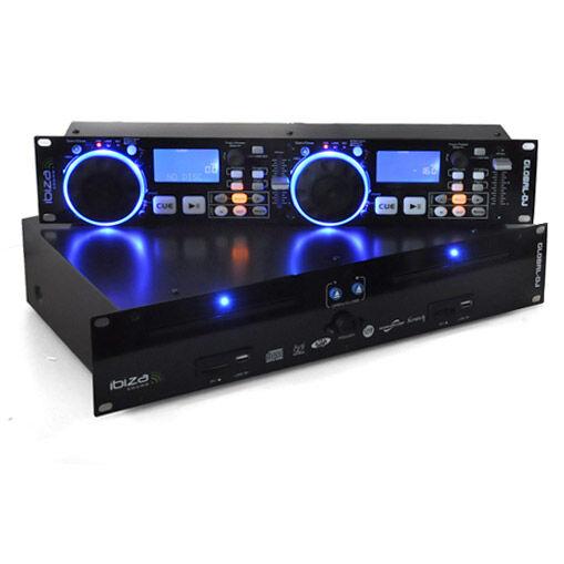 Ibiza Global DJ Tupla CD-soitin 2xUSB 2xSD MP3 Scratch