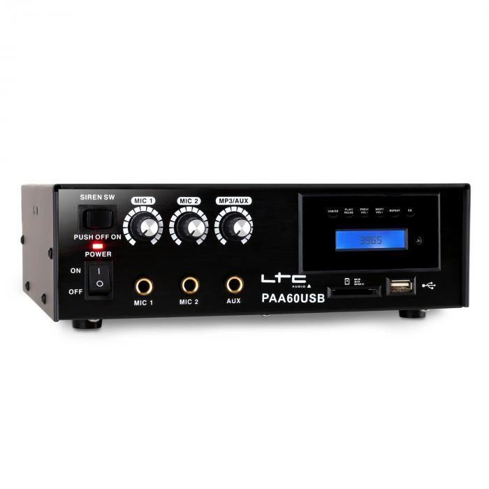 LTC PAA60USB PA-vahvistin USB / MP3