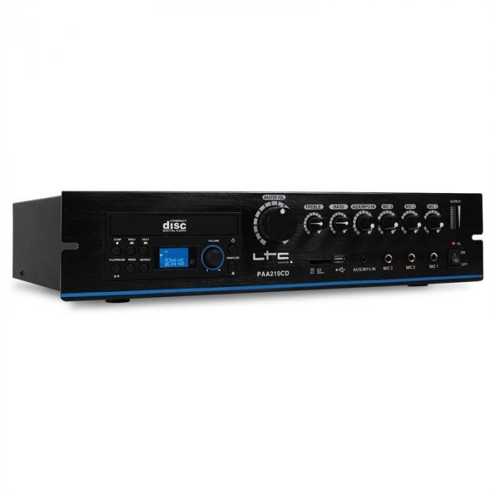 LTC PA-vahvistin LTC PAA210CD CD-soitin USB-MP3 24V