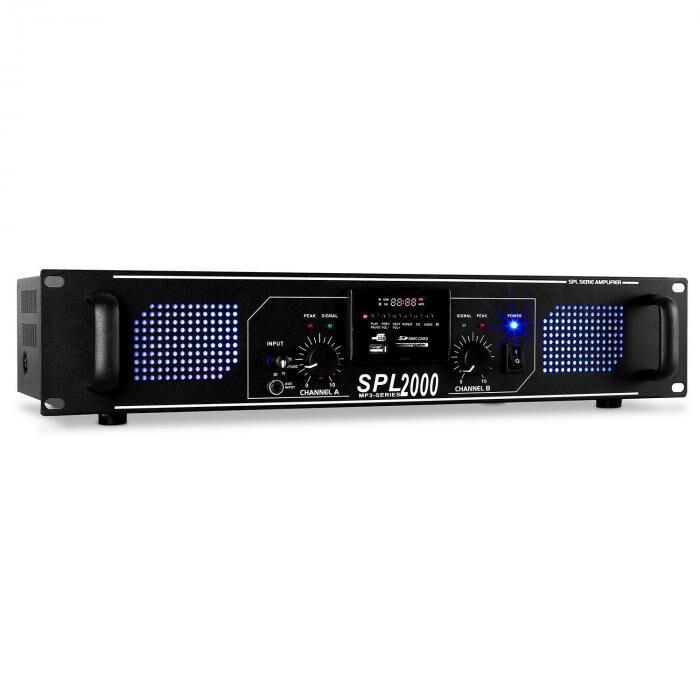 Skytec SPL-2000-MP3 PA-hifi-vahvistin 5 600 W