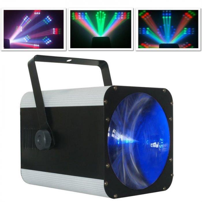 Beamz Revo 9 Burst Pro LED-valaisin, DMX, RGB