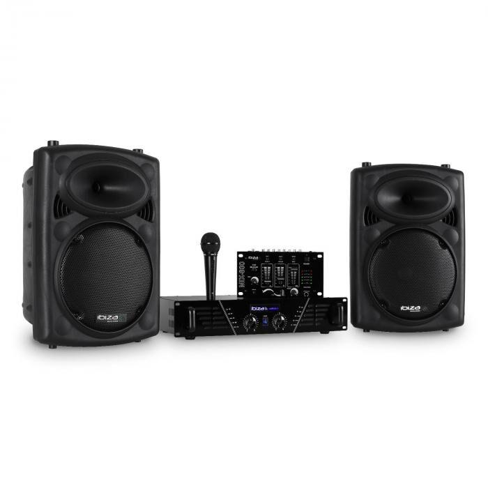 Ibiza DJ300MK2 Disco Sound Set AUX MIC