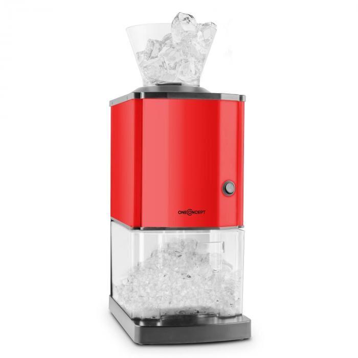 OneConcept Icebreaker jäämurskain 15kg/t 3,5 litraa jääsäiliö terästä punainen