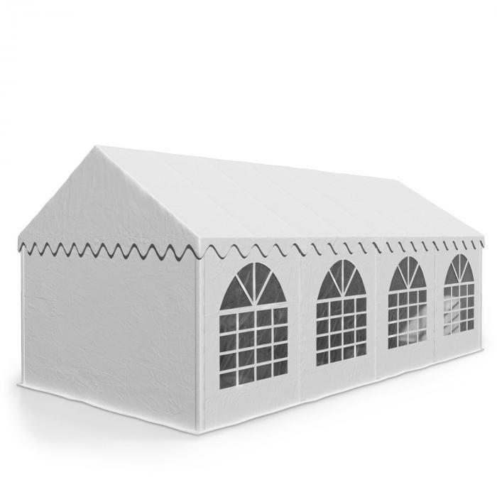 Blumfeldt Sommerfest 4x8m500 g/m² juhlateltta PVC vesitiivis sinkitty valkoinen