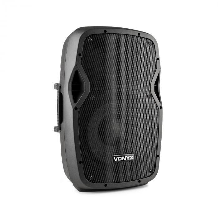 """Vonyx AP1200ABT MP3 high end aktiivikaiutin 600 W 12"""" bluetooth MIC-IN SD"""