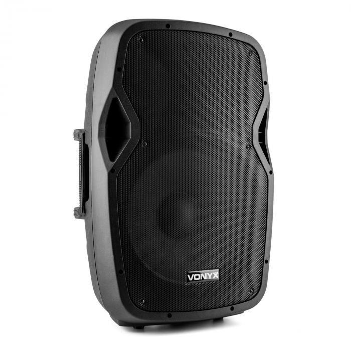 """Vonyx AP1500ABT MP3 high end aktiivikaiutin 600 W 15"""" bluetooth MIC-IN SD"""