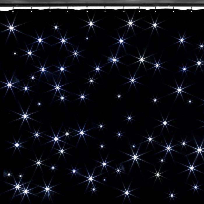 Beamz SparkleWall LED-verho LED 96 RGBW kylmävalkoinen 3 x 2 m sis. kaukosäätimen
