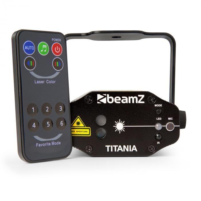 Beamz Titania tuplalaser 200mW RG gobo laserluokka 3B infrapunakaukosäädin