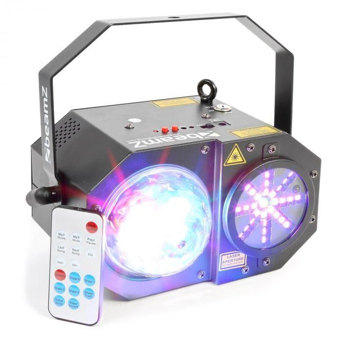 Beamz Sway 3-in1-LED jelly-valoefekti laser ja LED RGBW-LEDit 150mW-RG-laser