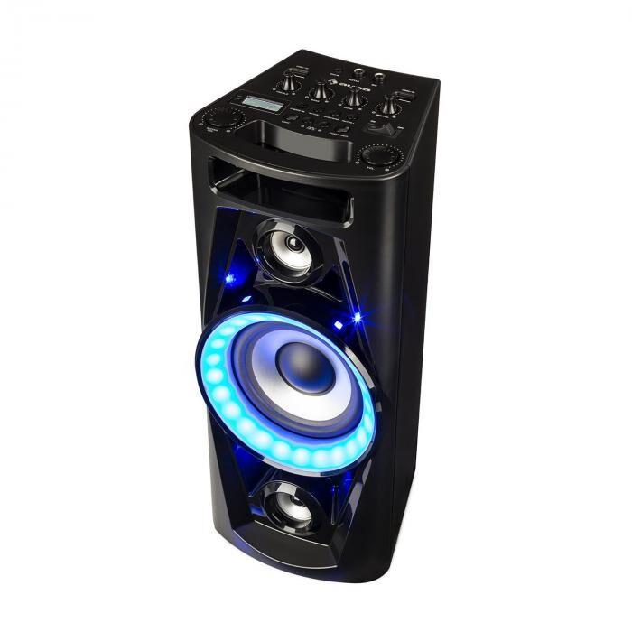Auna UltraSonic Pulse V6-40 audiojärjestelmä kaiutin akku BT USB MP3 AUX UKW kitara LED mikrofoni