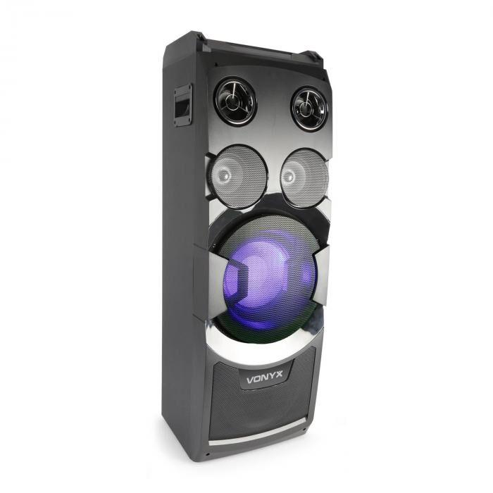 Vonyx PLAY1000 bilekaiutin USB BT AUX-, kitara- ja mikrofoniliitäntä