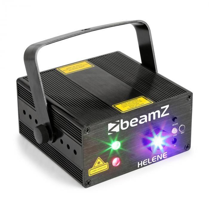 Beamz Helene Double Laser RG Multipoint IRC 3 W sininen LED