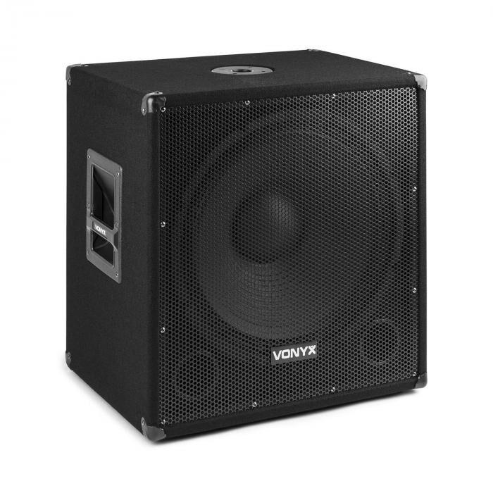 "Vonyx SMWBA18 18"" PA-subwoofer 1000 W max. bluetooth MP3 jalustalaippa"