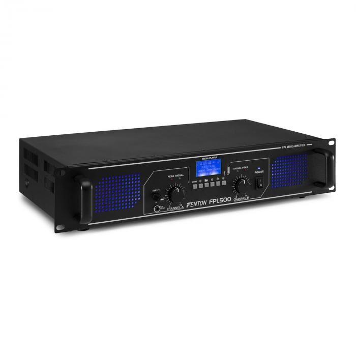 Fenton FPL500 digitaalinen vahvistin 2 x 250 W bluetooth mediasoitin USB-portti SD-paikka