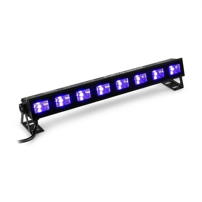 Beamz BUVW83 LED-lista 8 x 3 W UV/WW 2in1 30 W Plug & Play äänetön